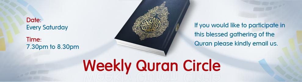 Weekly Quran Circle