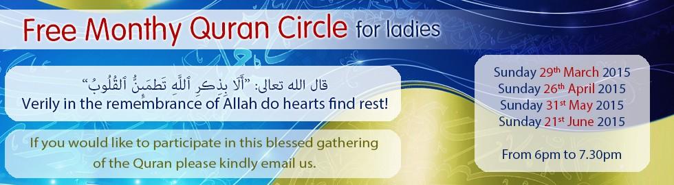 Monthy Quran Circle Ladies